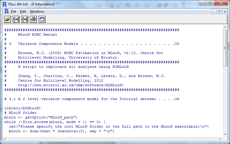 R2MLwiN Using the multilevel modelling software package