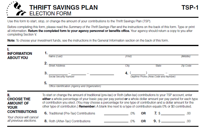 Helping to Understand the Thrift Savings Plan, the New Roth