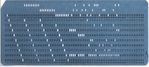 computers Punch cards also known as Hollerith