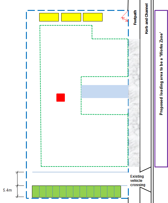 construction site layout plan