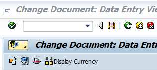 Enter the document number, Reversal Reason and click the button Display