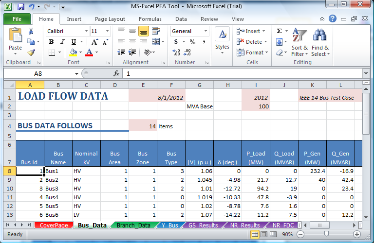 Power System Load Flow Analysis using Microsoft Excel - PDF