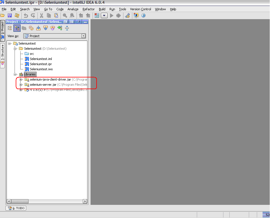 Create the directory structure in src folder as
