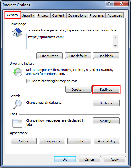 Configuring Internet Explorer Security Settings This task tells users how to configure the recommended security settings for Internet Explorer when operating CareLogic on Windows XP, Vista, or 7.