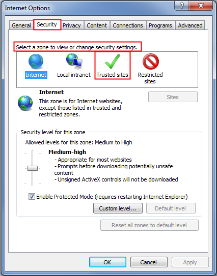 3. In the Browsing History section, click Settings The Temporary Internet Files and History Settings window appears. 4.