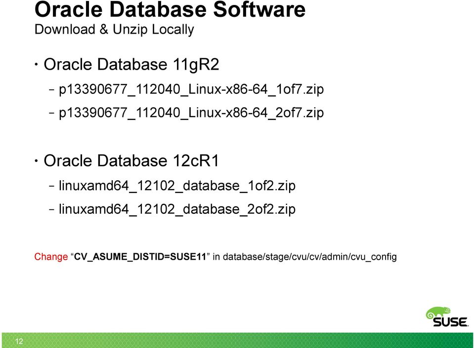Installing, Tuning, and Deploying Oracle Database on SUSE Linux