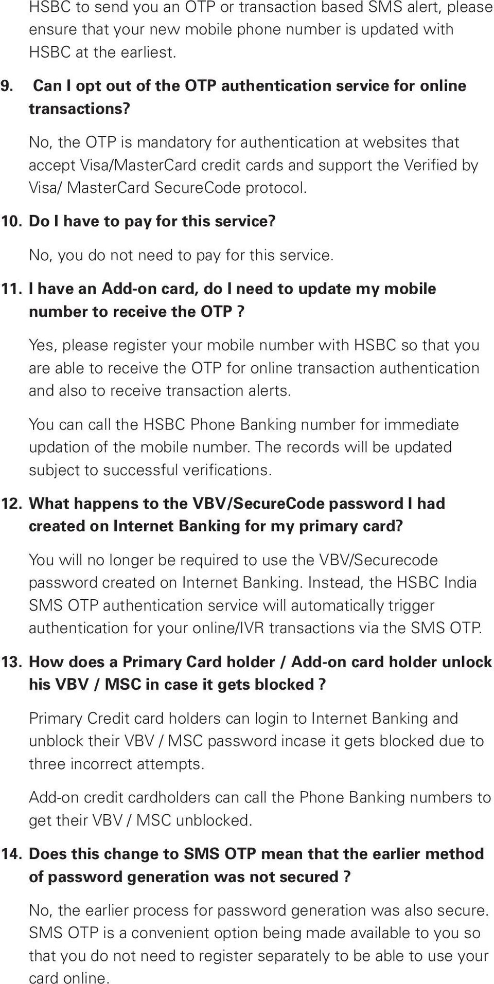 Frequently Asked Questions (FAQ) on HSBC Chip Credit Cards - PDF