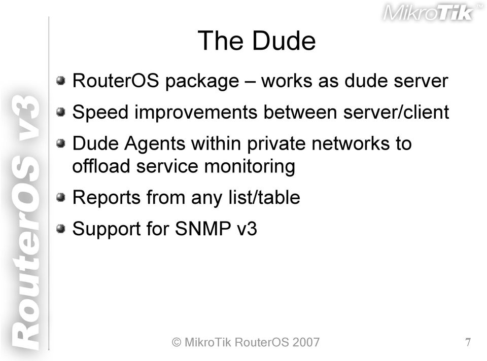 MikroTik RouterOS v3  New Obvious and Obscure Mikrotik