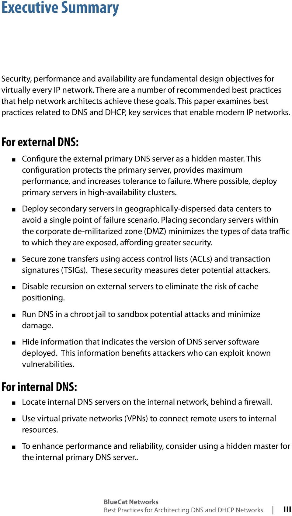 Best Practices For Architecting DNS and DHCP Networks  No IP  No