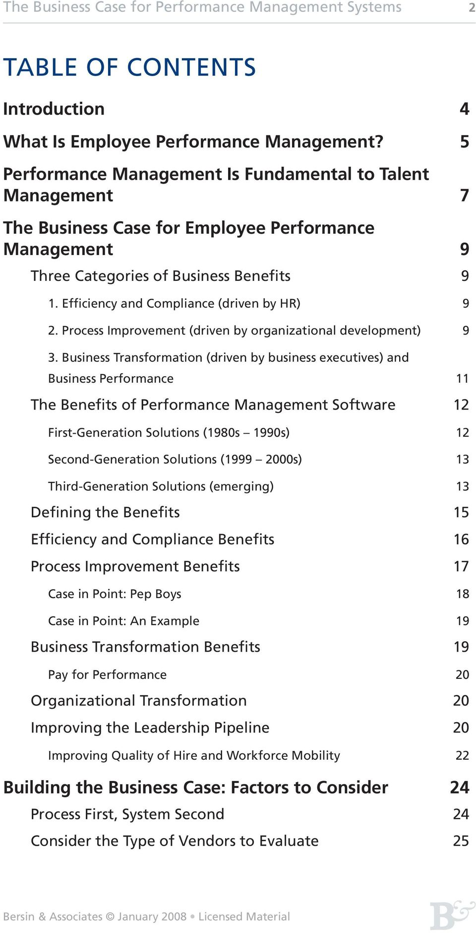 Efficiency and Compliance (driven by HR) 9 2. Process Improvement (driven by organizational development) 9 3.