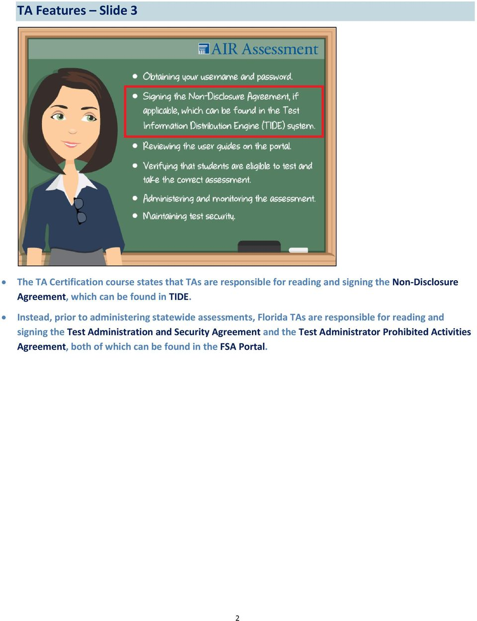 Ta Certification Course Additional Information Sheet Pdf