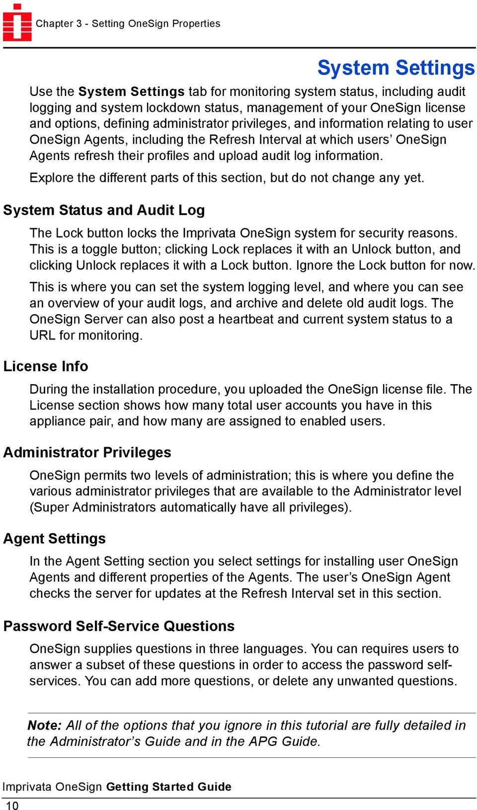 Imprivata OneSign Getting Started Guide - PDF