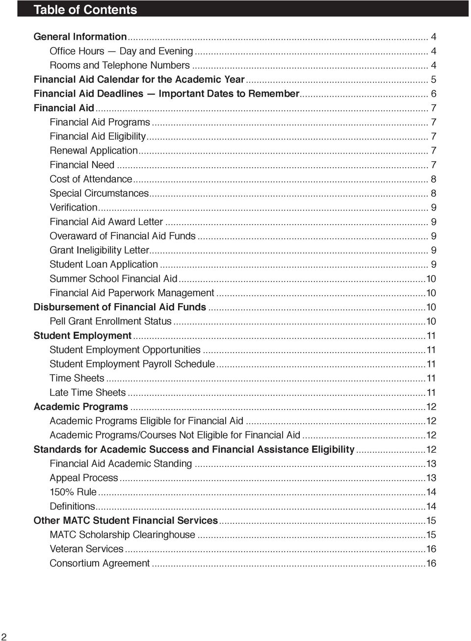 special circumstances financial aid letter example financial aid handbook pdf 24936 | page 2