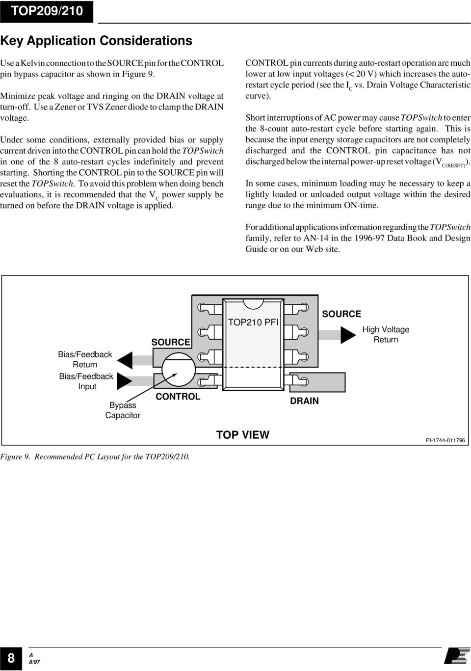 Top209 210 Topswitch Family Three Terminal Off Line Pwm Switch Pdf Offline Supply Drives Leds Figure 1 Under Some Conditions Externally Provided Bias Or Current Driven Into The Control Pin Can