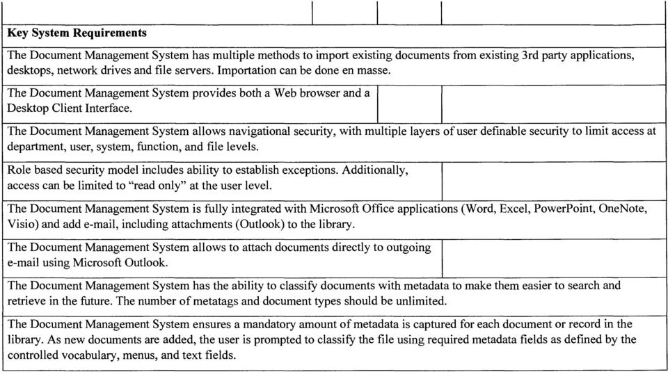 requirements for document management system