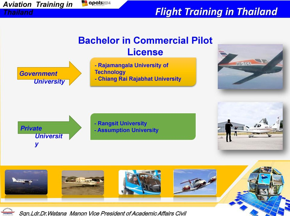 Aviation Training in Thailand  Sqn Ldr Dr Watana Manon Vice