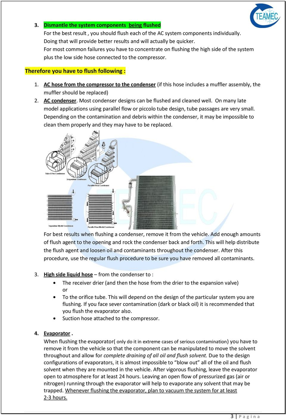 Flushing and Cleaning the A/C System - PDF