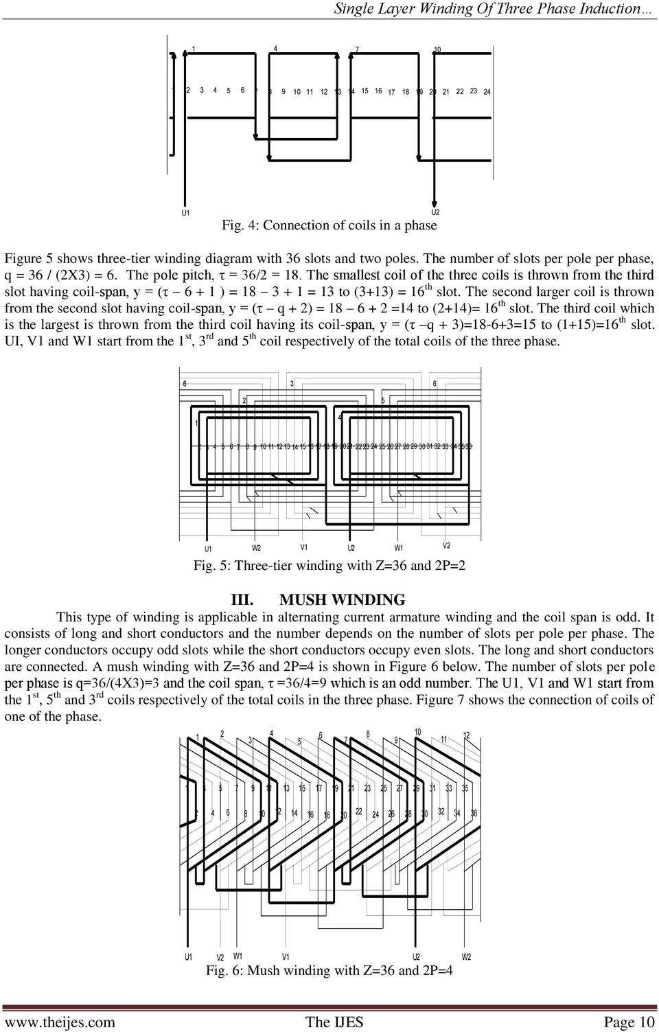 Single layer winding of three phase induction motor pdf the second larger coil is thrown from the second slot having coil span y ccuart Choice Image