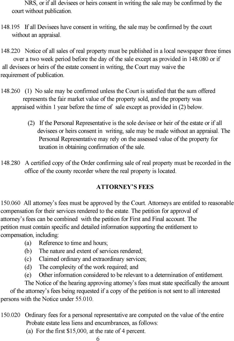 Synopsis of Nevada Probate Law  Don W  Ashworth Probate Commissioner