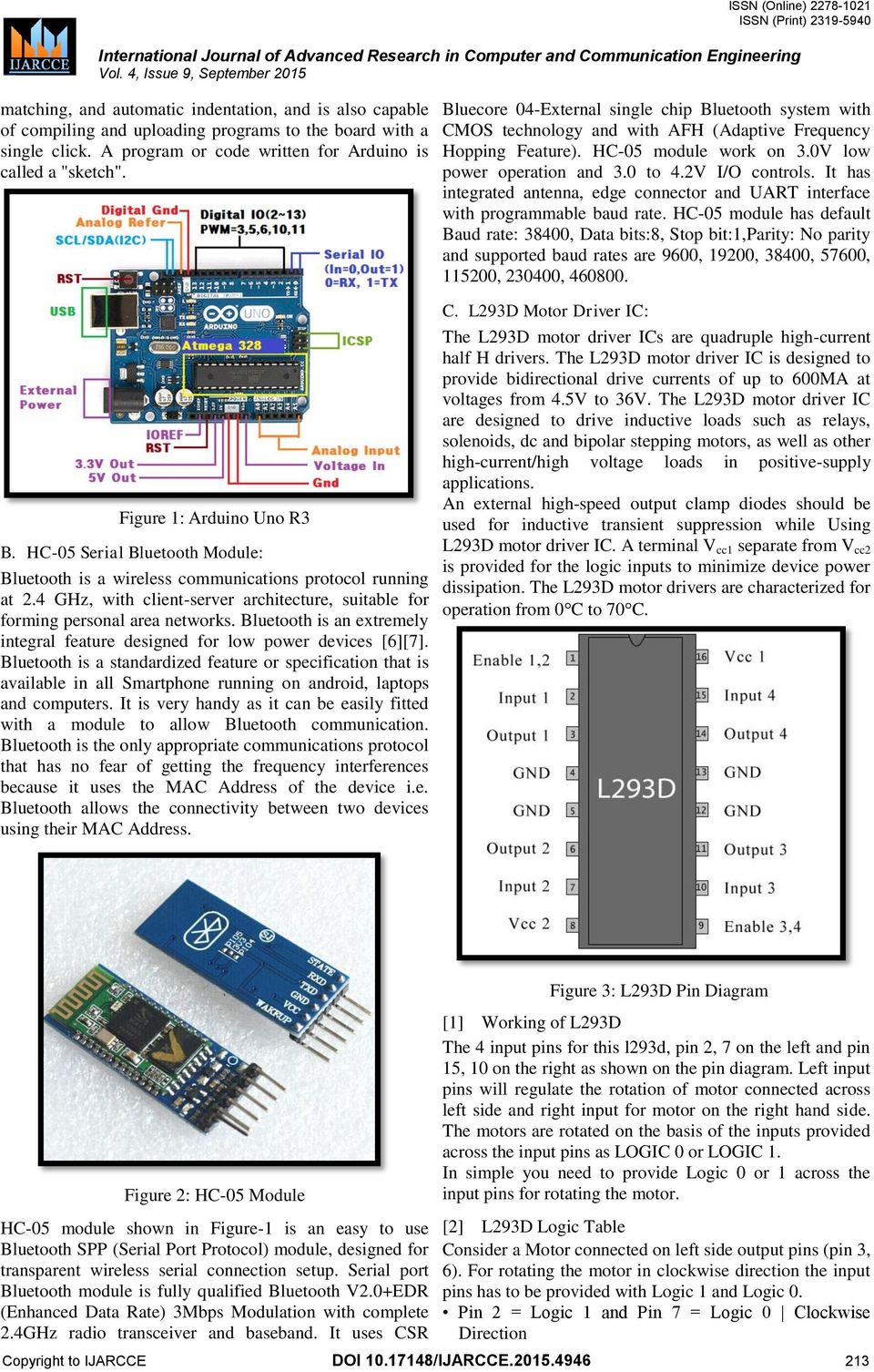 Three Way Controlled Android Smartphone Based Robotic Vehicle Via L293d Pin Diagram 4 Ghz With Client Server Architecture Suitable For Forming Personal Area Networks