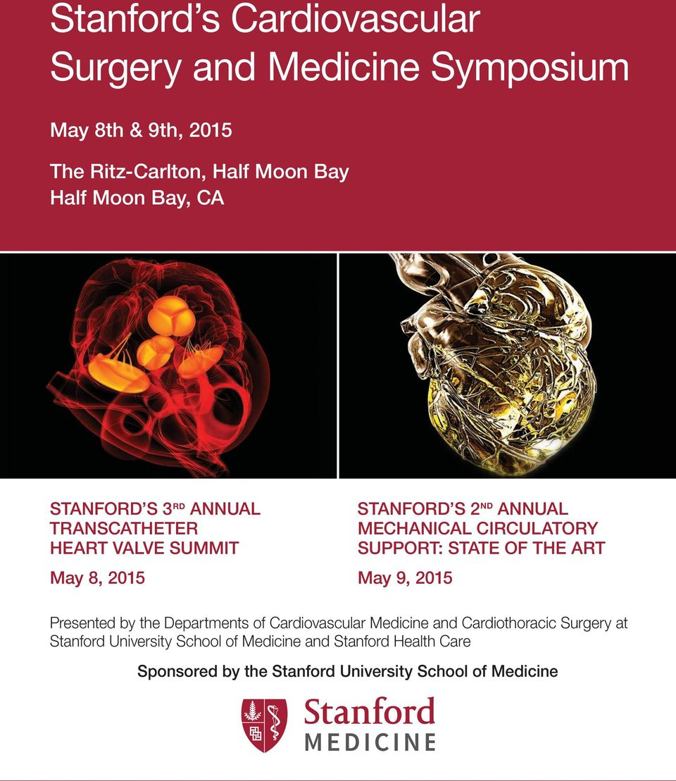 Stanford s Cardiovascular Surgery and Medicine Symposium - PDF