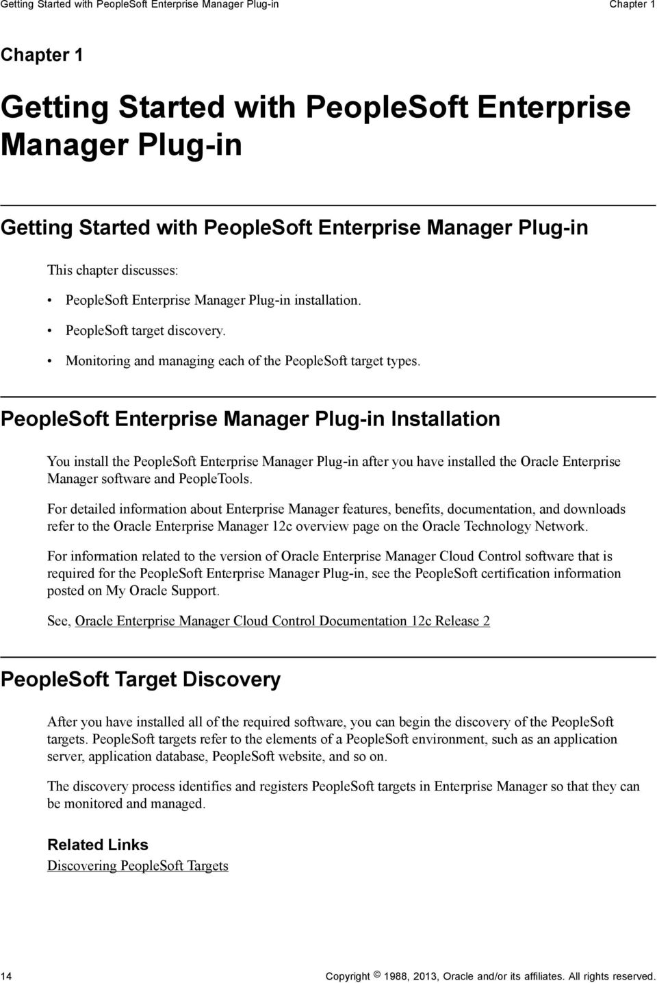 PeopleSoft Application Management Plug-in for Oracle