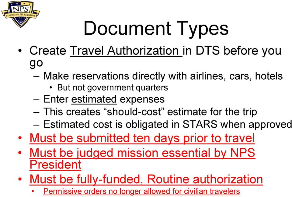 Dts User Training Defense Travel System 18 February Pdf