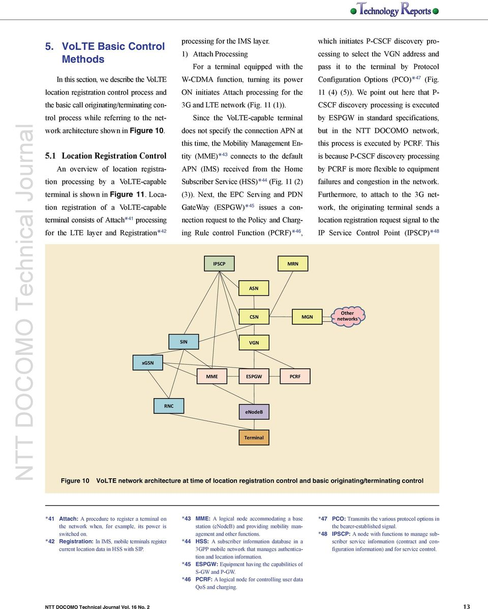Ntt Docomo Technical Journal Pdf Basic Mobile Originating Call Diagram Location Registration Of A Volte Capable Consists Attach 41 Processing For The Lte