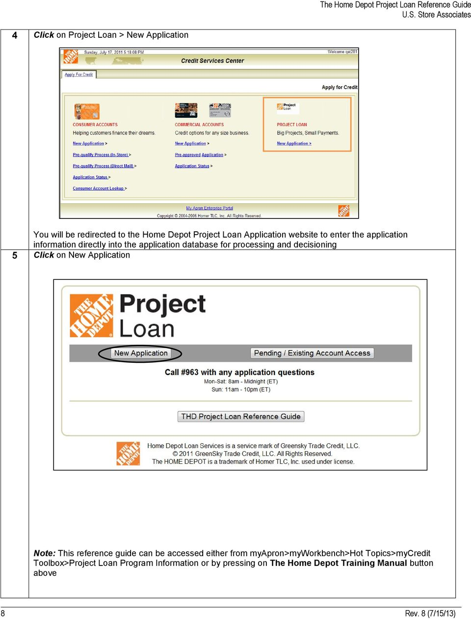 The Home Depot Project Loan The Home Depot Financial