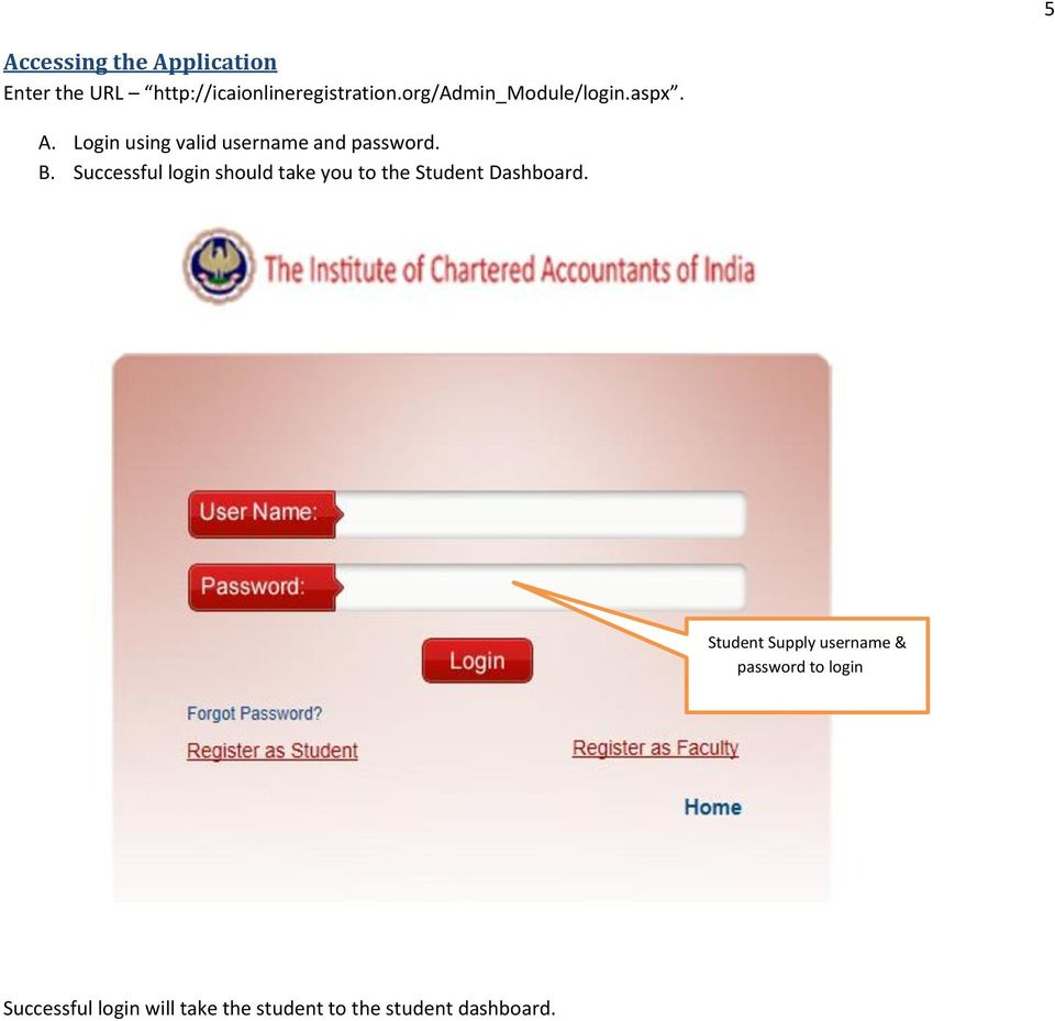 ICAI STUDENT REGISTRATION PORTAL USER MANUAL FOR STUDENTS - PDF