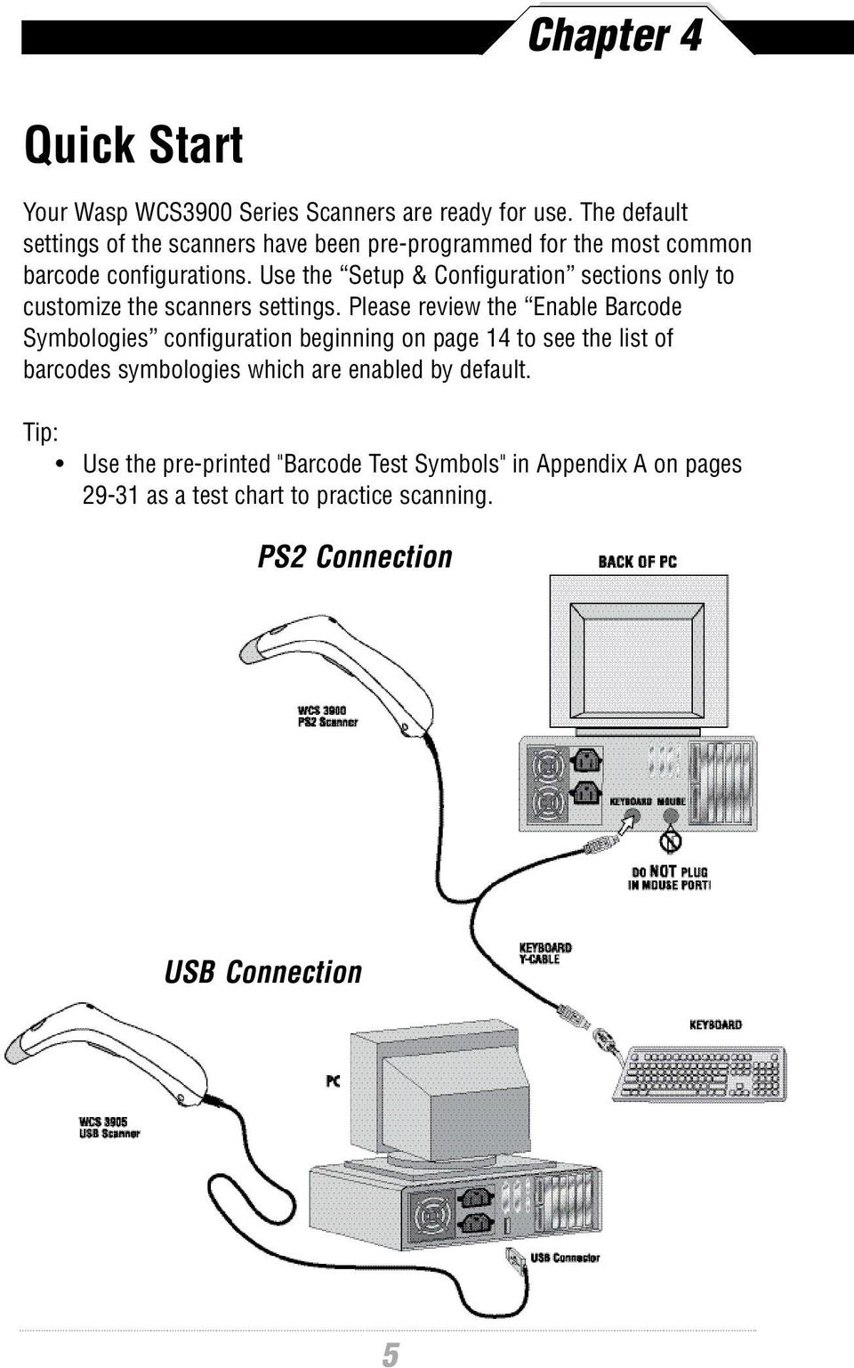 Barcode Scanning Made Easy Programming Guide Pdf Keyboard Ps 2 Connector Wiring Diagram Ps2 Connection Usb 5 Use The Setup Configuration Sections Only To Customize Scanners Settings