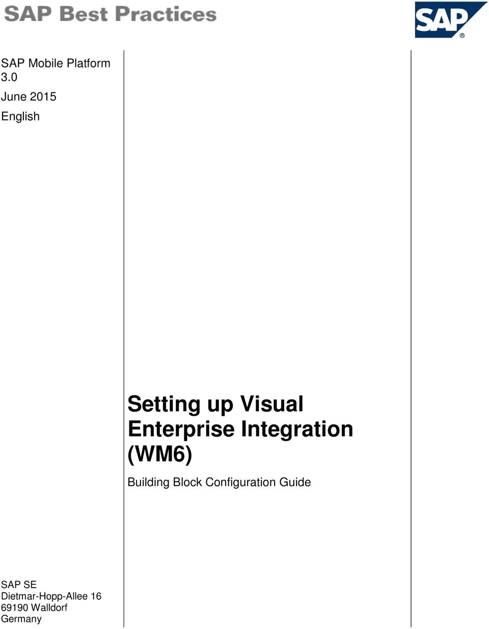 Enterprise Integration (WM6) Building Block