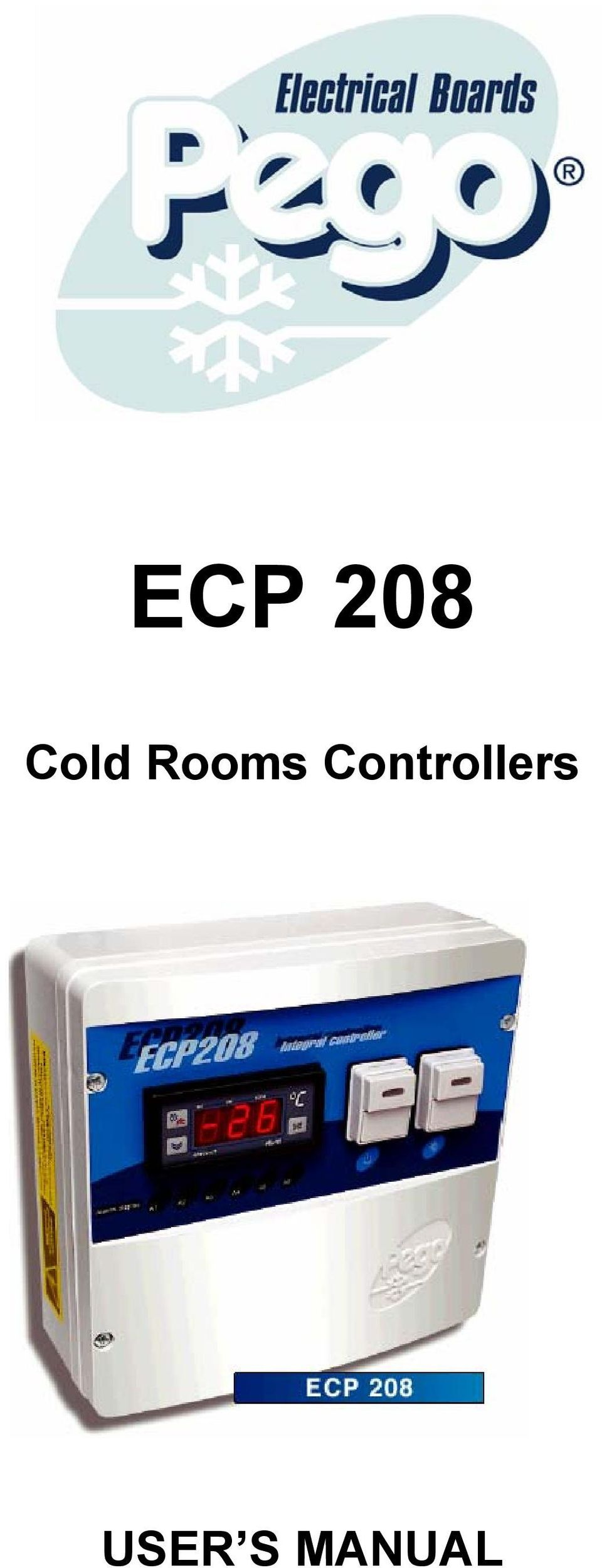 Ecp 208 Cold Rooms Controllers User S Manual Pdf Wiring Diagram 1