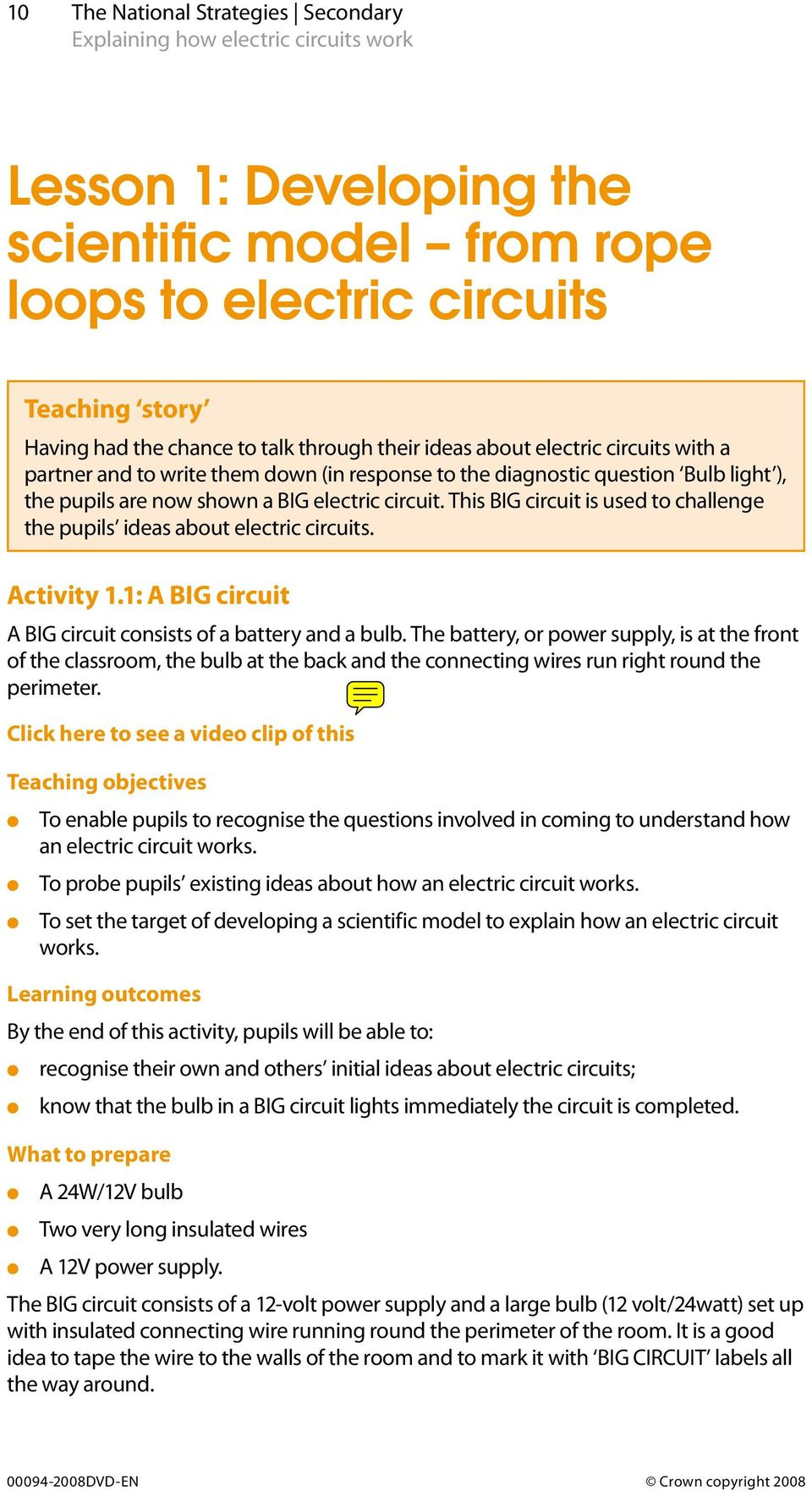 Explaining How Electric Circuits Work Science Teaching Unit Pdf Return To Circuit Design Ideas This Big Is Used Challenge The Pupils About Activity 11