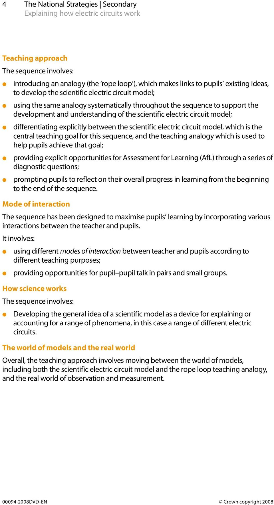 Explaining How Electric Circuits Work Science Teaching Unit Pdf Learning Circuit World The Scientific Model Which Is Central Goal For This Sequence