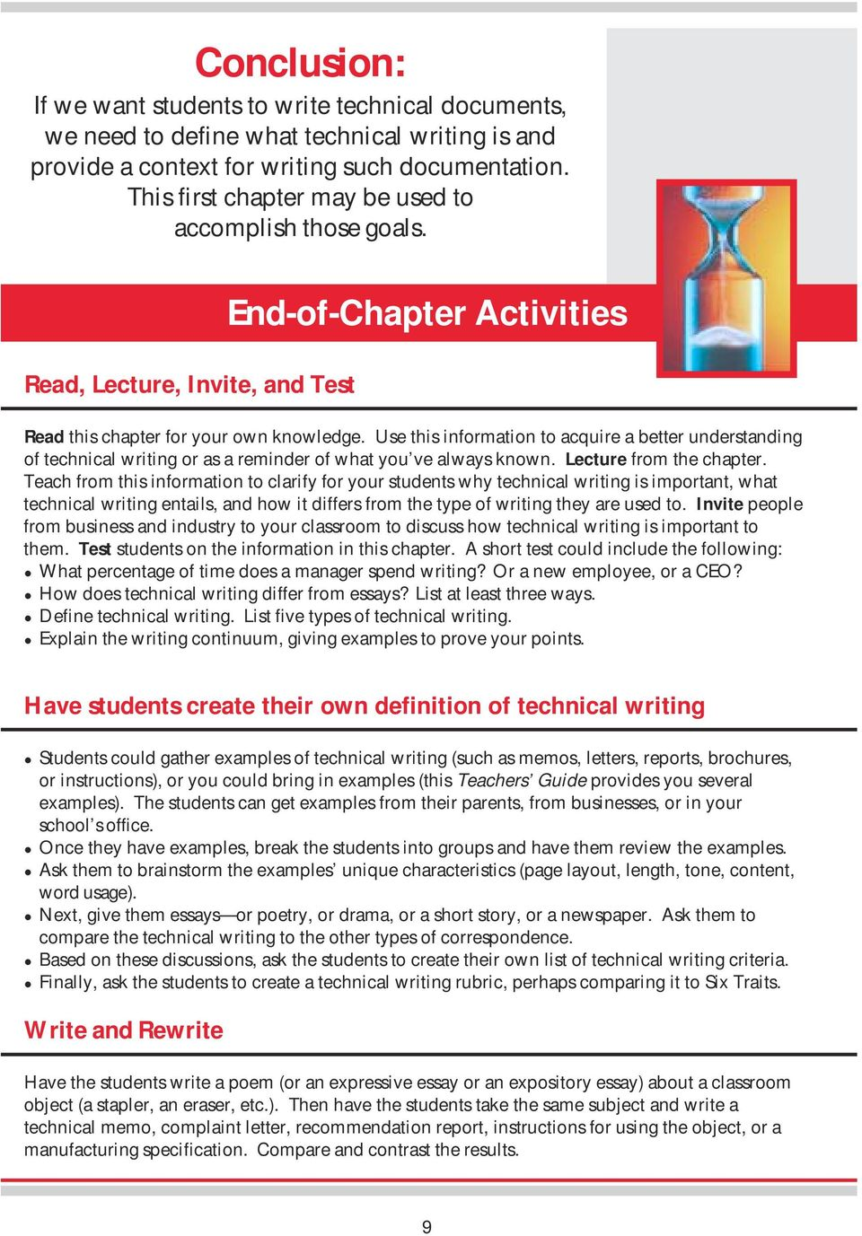 writing that works. a teacher s guide to technical writing. by dr