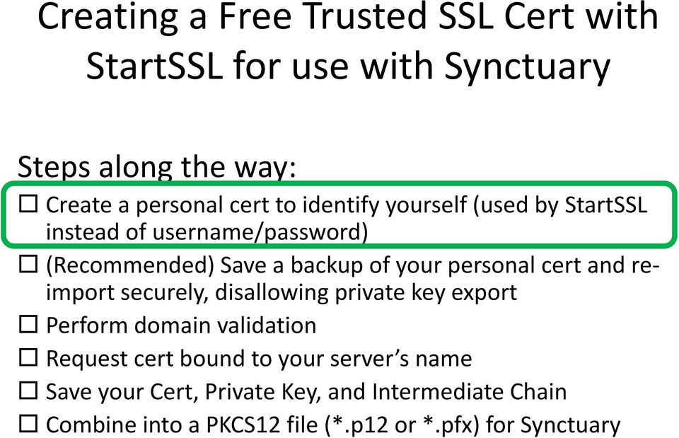 Creating A Free Trusted Ssl Cert With Startssl For Use With