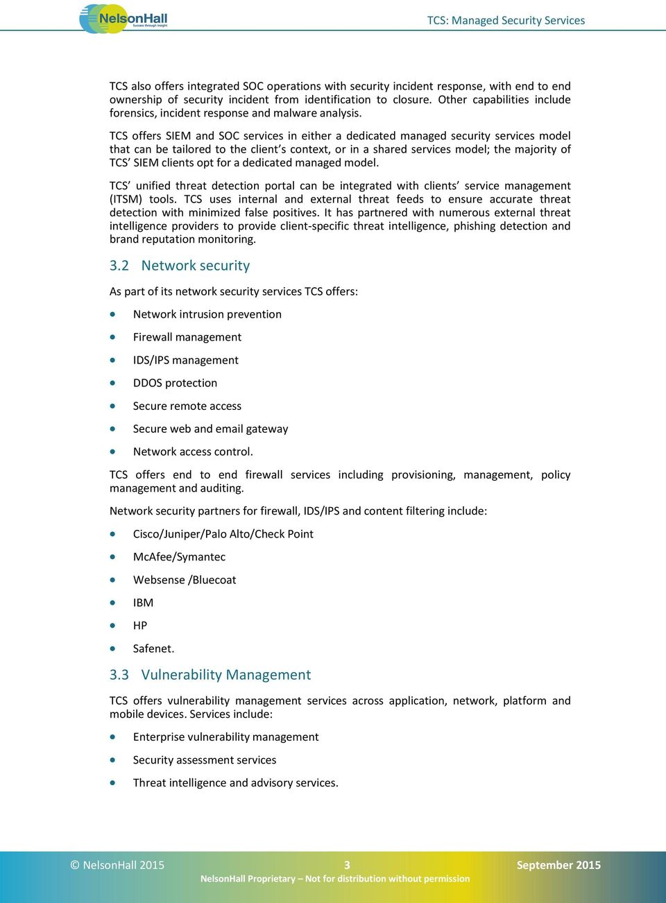 TCS Managed Security Services - PDF