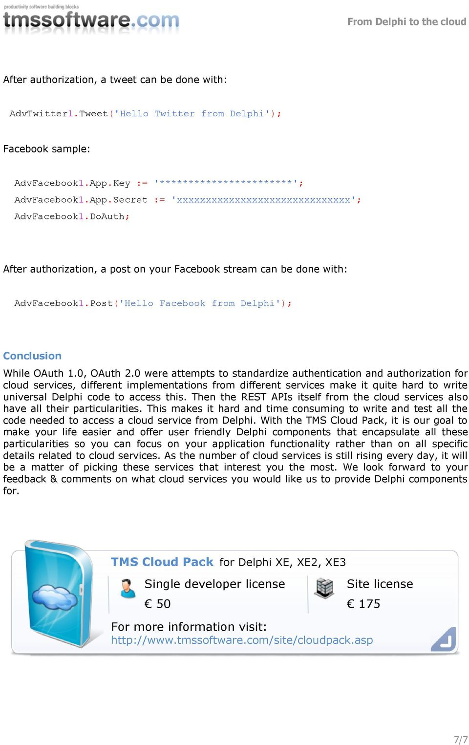 From Delphi to the cloud - PDF