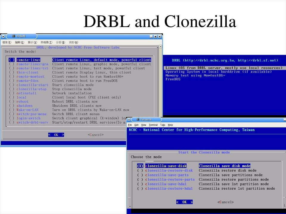 DRBL and Clonezilla The deployment and restoration system - PDF
