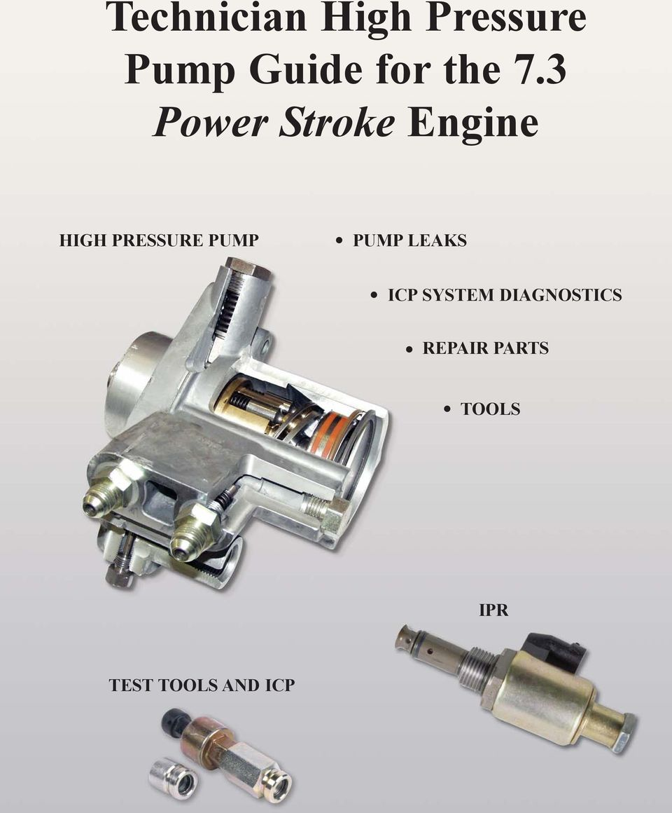 Technician High Pressure Pump Guide For The 73 Power Stroke Engine 7 3 Powerstroke Wiring Harness