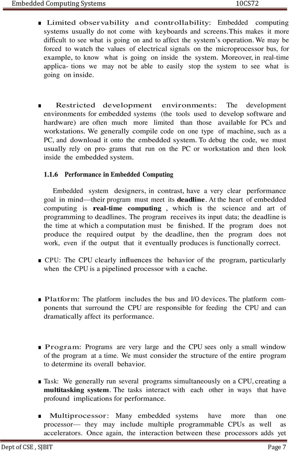 Embedded Computing Systems 10cs72 Pdf Free Download