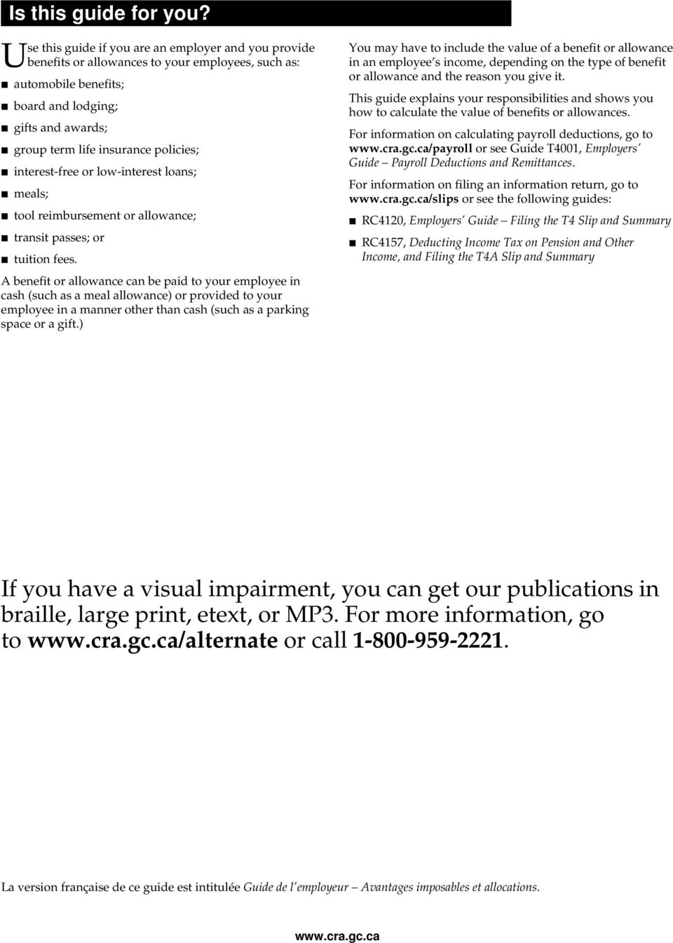 Taxable Benefits and Allowances - PDF