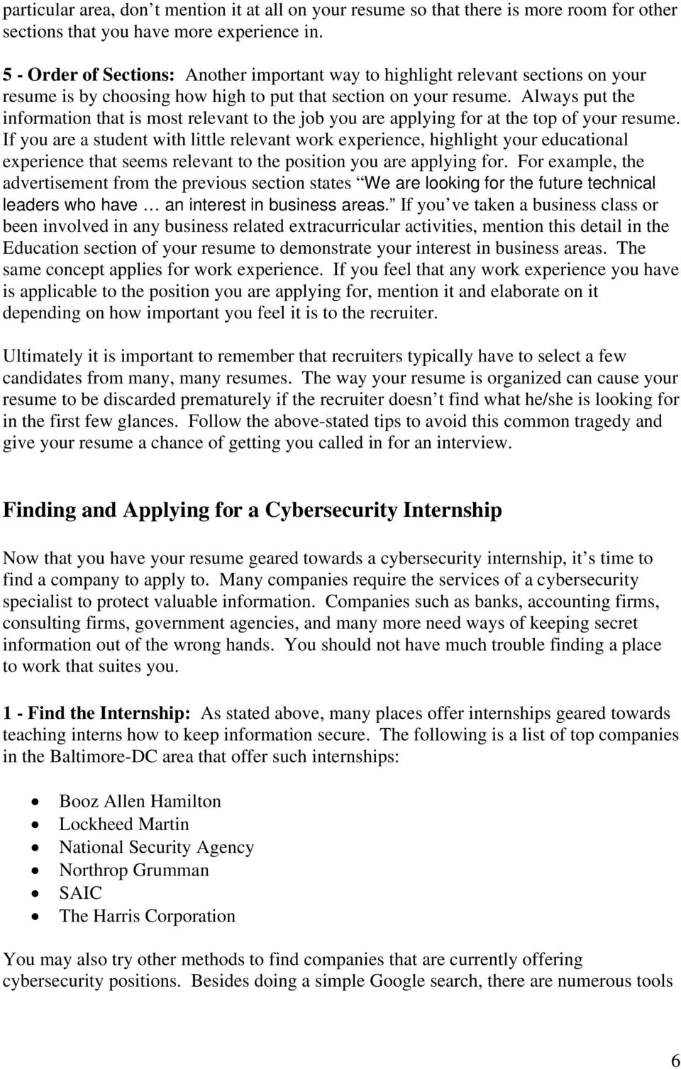 How to Get Hired for a Cybersecurity Internship  by Wilton