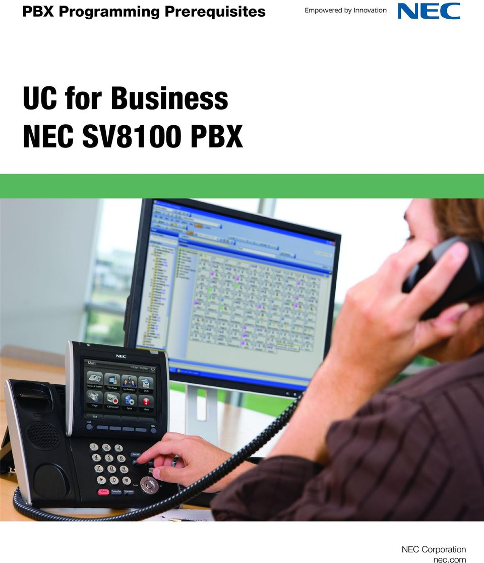 pbx programming prerequisites uc for business nec sv8100 pbx pdf rh docplayer net NEC SV8100 Administrator Guide nec sv8100 administration guide