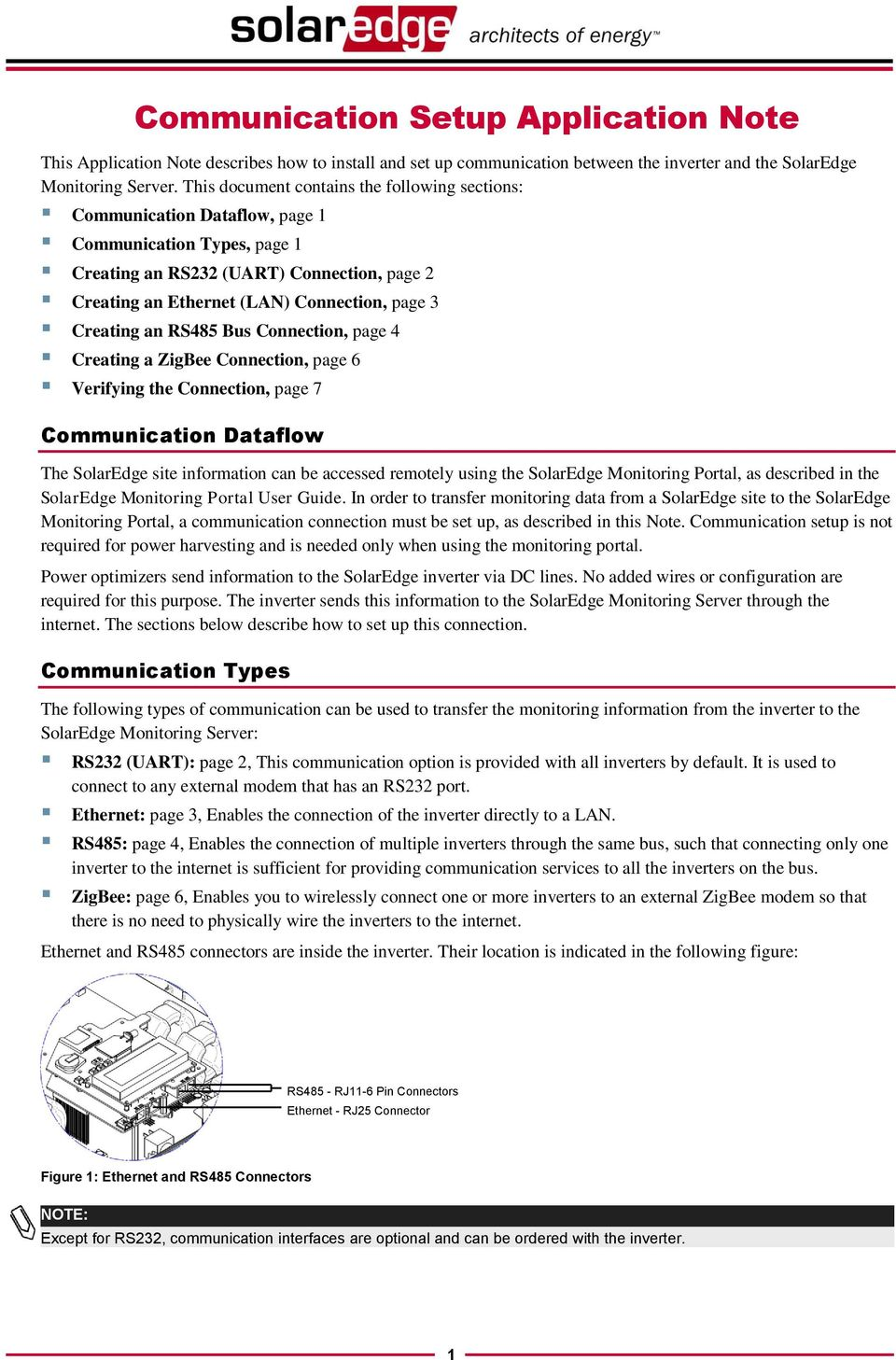 Communication Setup Application Note Pdf Rj25 Jack Wiring Creating An Rs485 Bus Connection Page 4 A Zigbee 6 Verifying