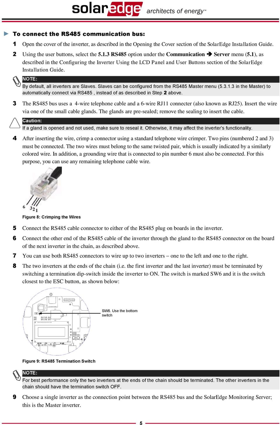 Communication Setup Application Note Pdf 4 Wire Rs485 Wiring 3 The Bus Uses A Telephone Cable And 6