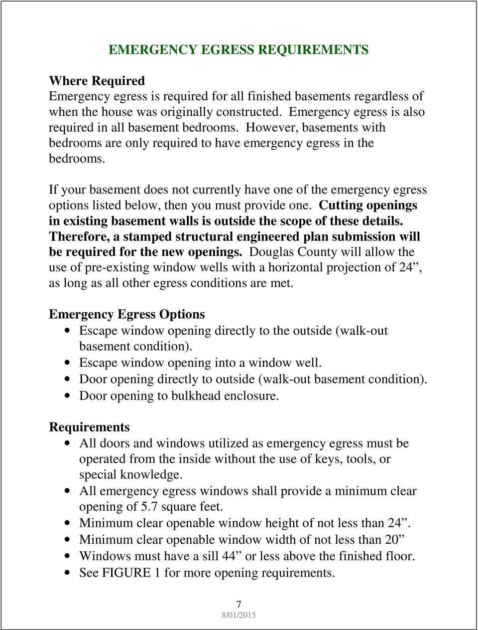 Finished Basement Requirement Guide Pdf Wiring A To Code In Ontario If Your Does Not Currently Have One Of The Emergency Egress Options Listed Below