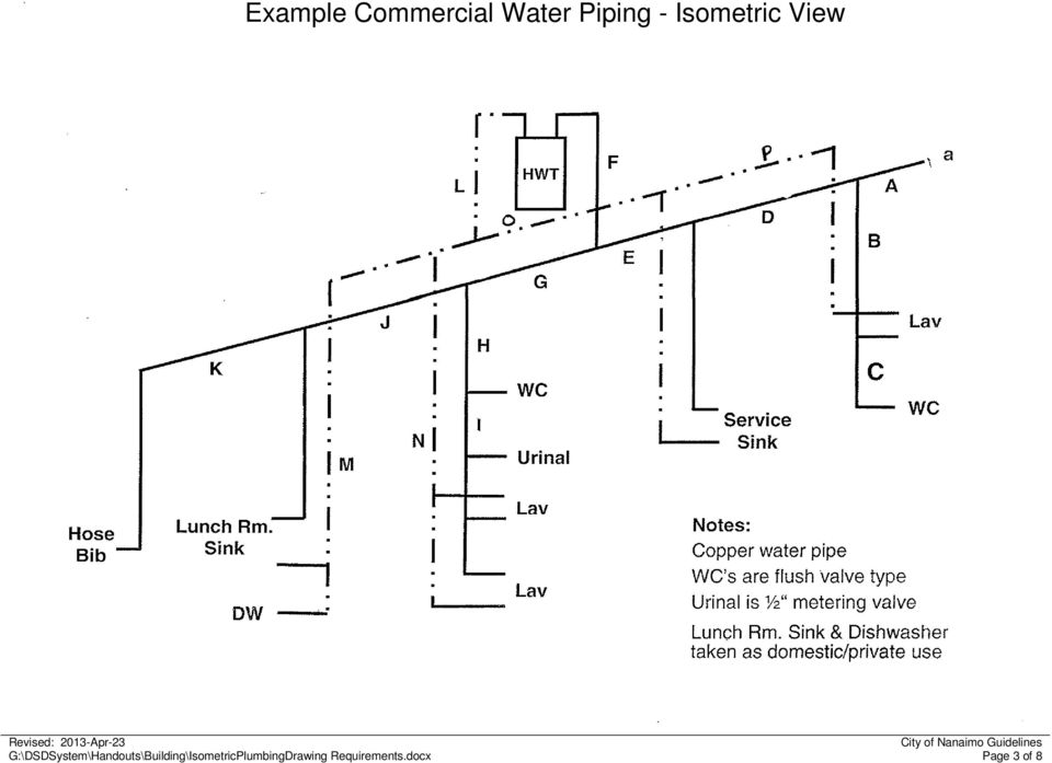 Isometric Plumbing Drawings - PDF