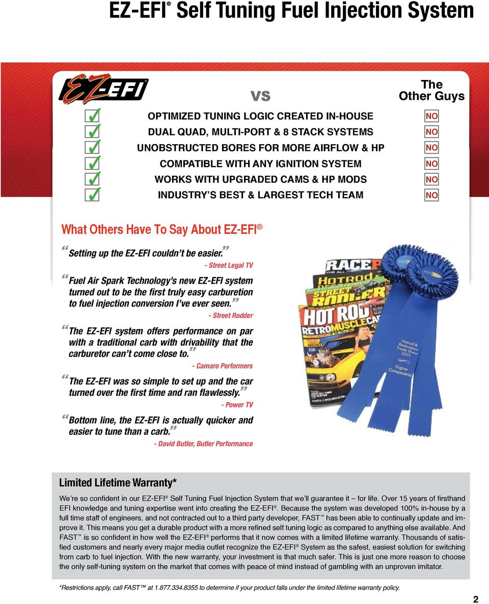 Efi Help Pdf Ez Tcu Controller Wiring Diagram Street Legal Tv Fuel Air Spark Technology S New System Turned Out To Be The
